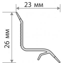 Бордюр для ванны на плитку 23 мм Грейс