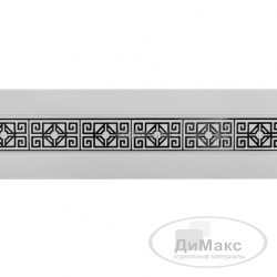 "Бленда ""амулет"" белый глянец/хром 30 м ширина 68 мм"