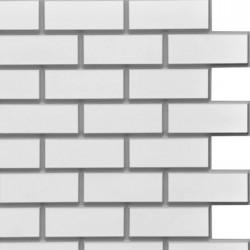 Панель облицовочная МАТТОНЕ 3D белый кирпич с серыми швами 595*595*8 мм