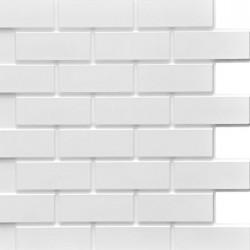 Панель облицовочная БЕЛОТТА 3D белый кирпич 595*595*8 мм