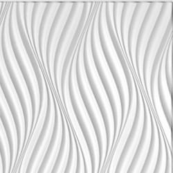 Панель облицовочная ПОРТУ 3D белый 595*595*8 мм