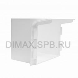 Короб маскировочный к плинтусу из вспененного ПВХ Aqua (100*110*92) Белый