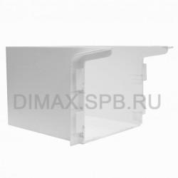 Короб маскировочный к плинтусу из вспененного ПВХ Aqua (100*160*92) Белый