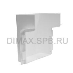 Короб маскировочный к плинтусу из вспененного ПВХ Aqua (100*70*120) Белый