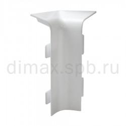 Угол внутренний к плинтусу из вспененного ПВХ Aqua 20х37 правый (2 шт) Белый