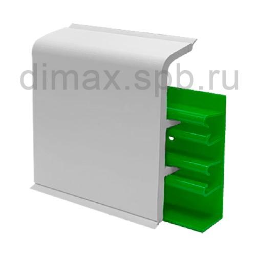 Плинтус ПВХ под покраску с мягкими краями для подвода труб к радиаторам Aqua 20 Белый