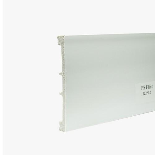 Плинтус ПВХ под покраску PS Flint 122х12мм Белый
