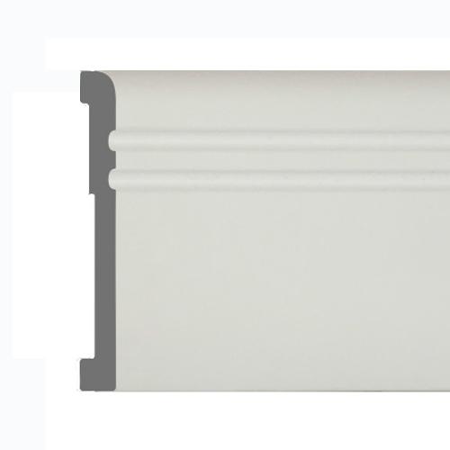 Плинтус ПВХ под покраску PS Flint M 80*12мм Белый