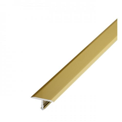 Т-образный алюминиевый порог Т20 (20 мм) Золото (2,7м)