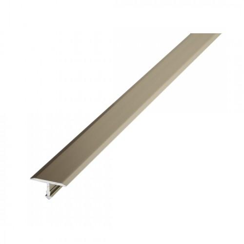 Т-образный алюминиевый порог Т20 (20 мм) Шампань 042 (2,7м)