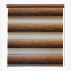 Рулонная штора с цепочкой День/Ночь Ливерпуль коричневый (50х160 см)