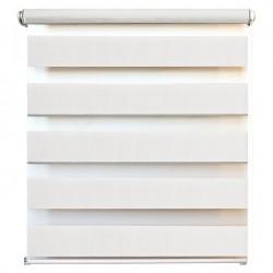 Рулонная штора с цепочкой День/Ночь Канзас белый (50х160 см)